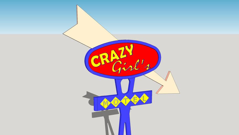 MOTEL pylon Crazy Girl's
