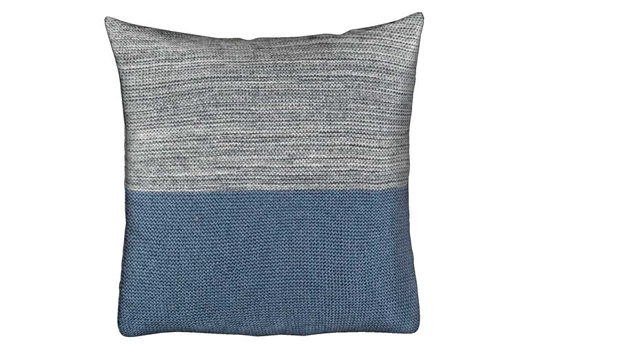 RITCHIE SQUARE CUSHION - BLUE