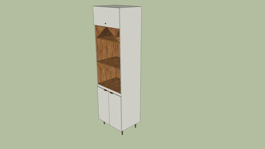 Cozinha Henn - Essência - Torre Quente 02 Fornos 2305x700x510