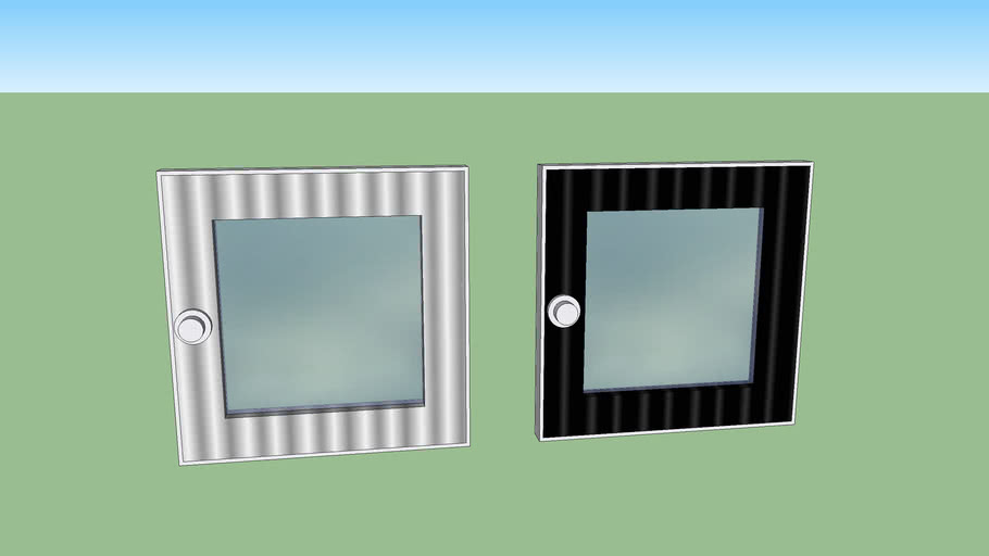 Aluminum window 50x50  cm for wc and shower