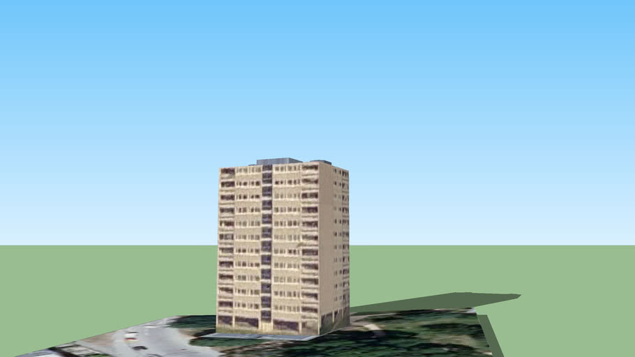 Tower Block in Roehampton 3 (Part Of The London 3d Project)