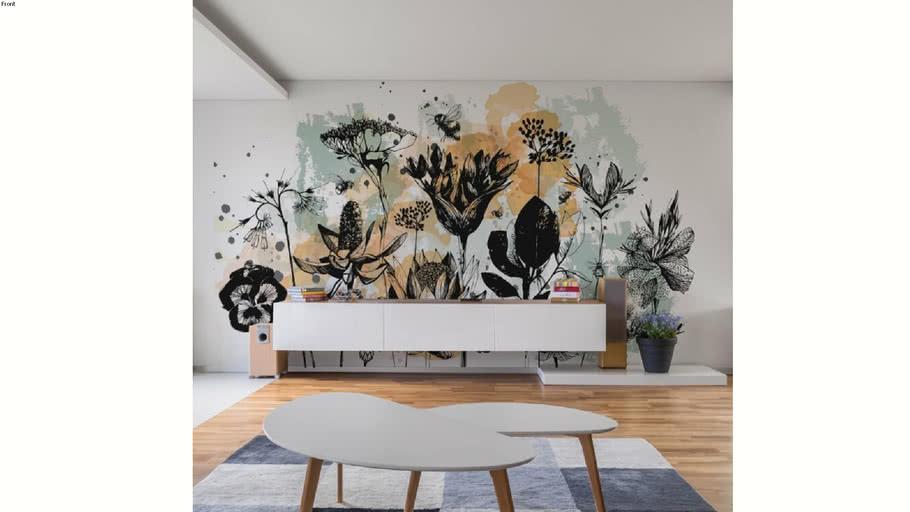 Papier peint panoramique Acte-Deco Fleurs des Champs