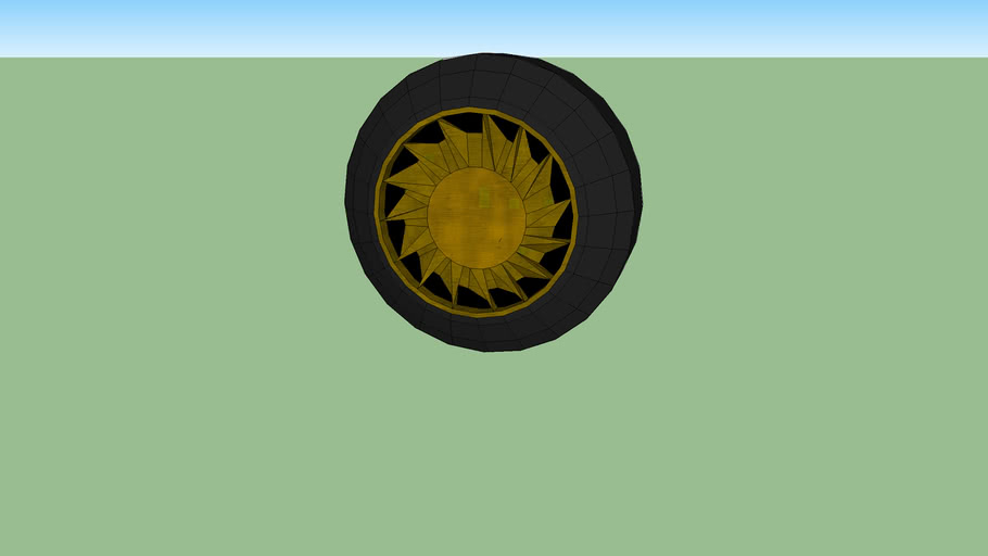 roda dourada