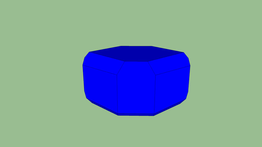 Azurite Crystal Model