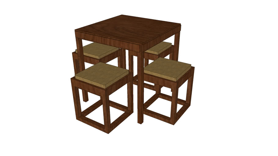 barque dining table | 3D Warehouse