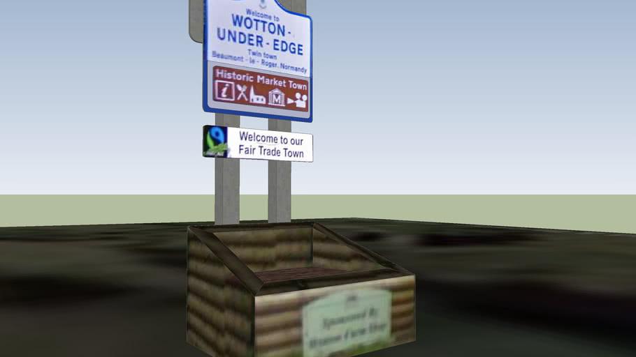 Wotton-under-Edge, New Road, Sign #1