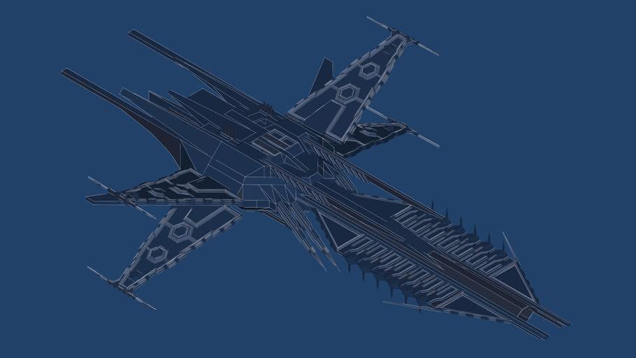 Hexiron carrier Triton blueprint (3D)