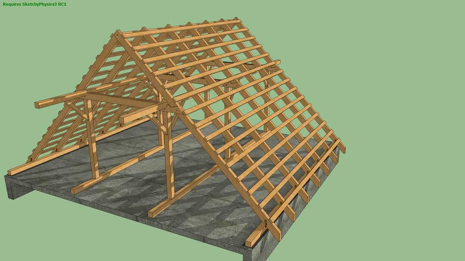 Dach o konstrukcji płatwiowo-kleszczowej