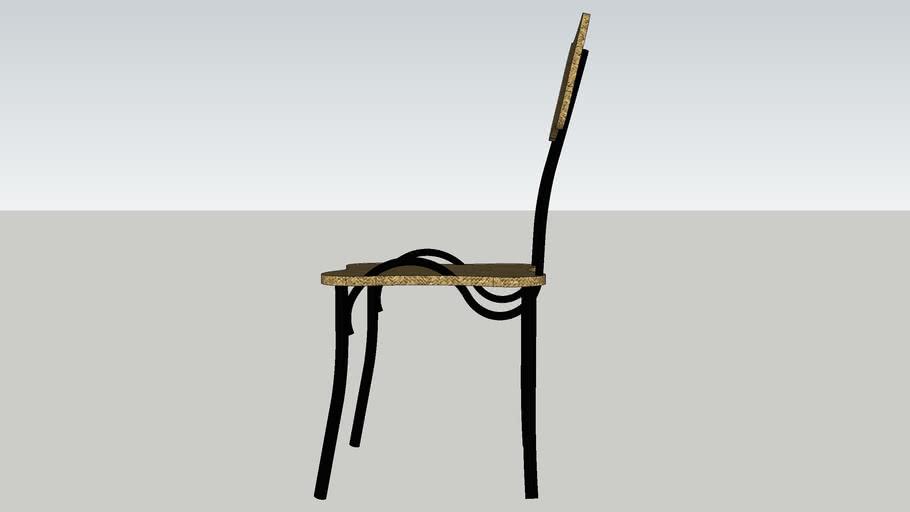 rotan chair black steel
