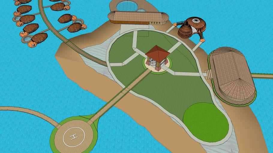 Rencana Desain Pulau Kodingareng Keke Makassar