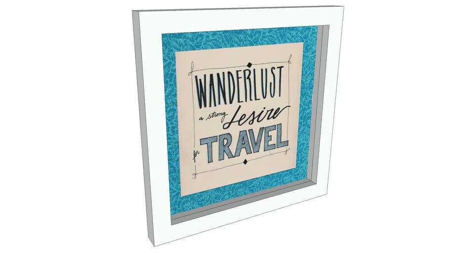 Quadro: Wanderlust 20x20cm