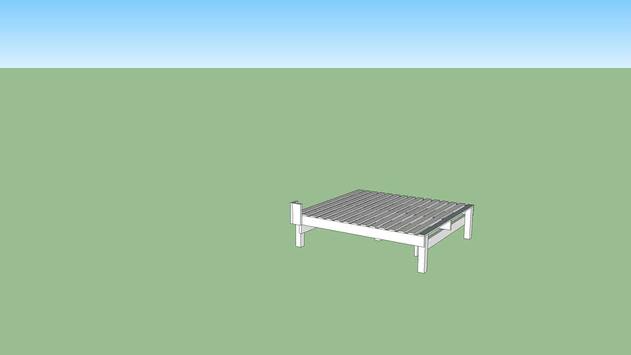 minimal king sized bed frame