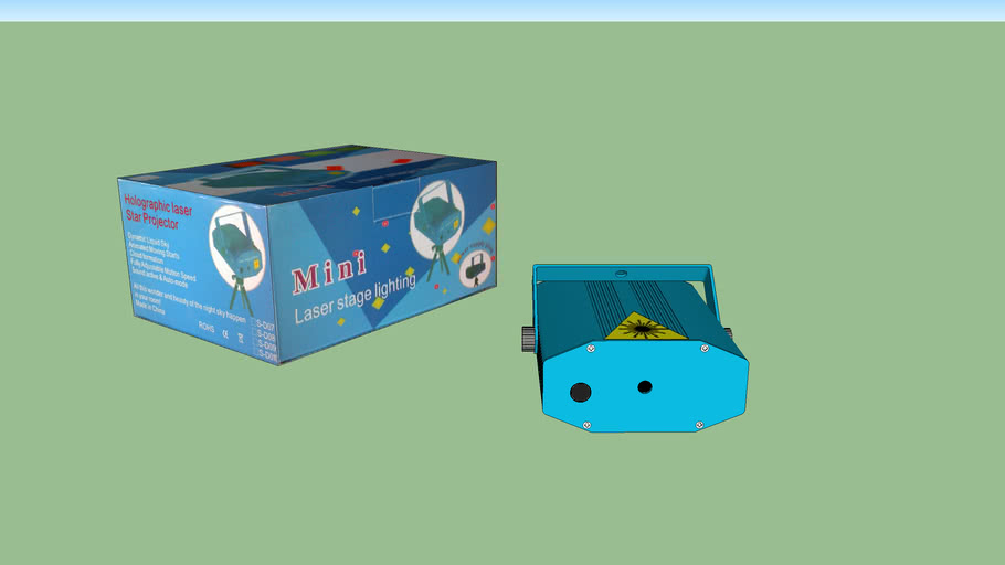 small blue laser with box