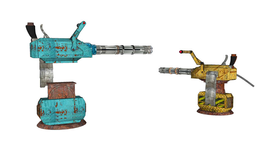 Portable turret Gatling gun