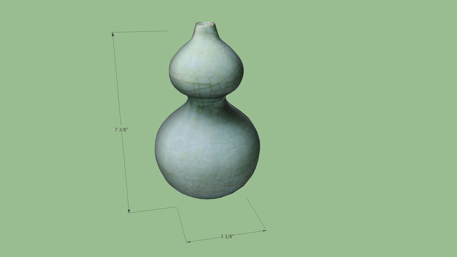 Gourd-shaped vase, Southern Song dynasty, Kuan ware