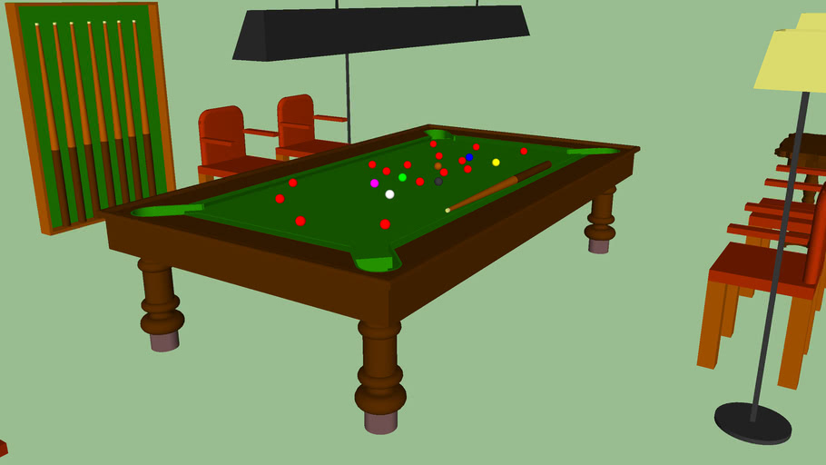 Modelo 3D do Snooker da Casa Bianchi