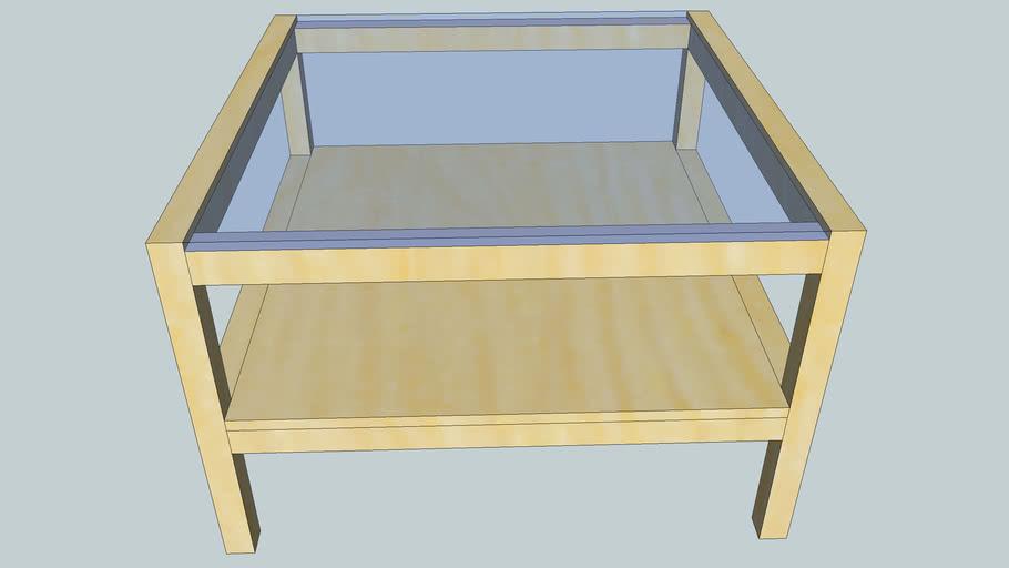 IKEA - Table basse LAKE avec verre