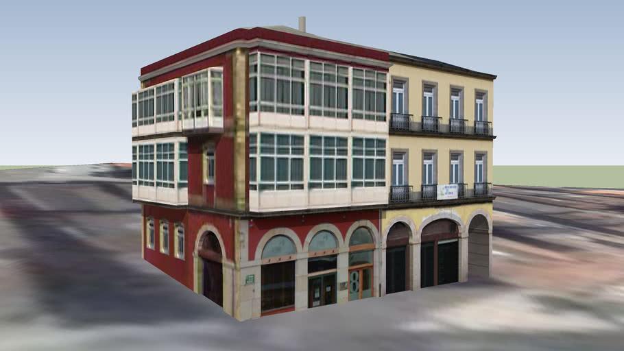 Edificios no Paseo da Mariña. AVV de Ferrol Vello