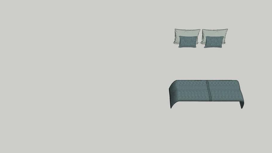 colcha almofadas