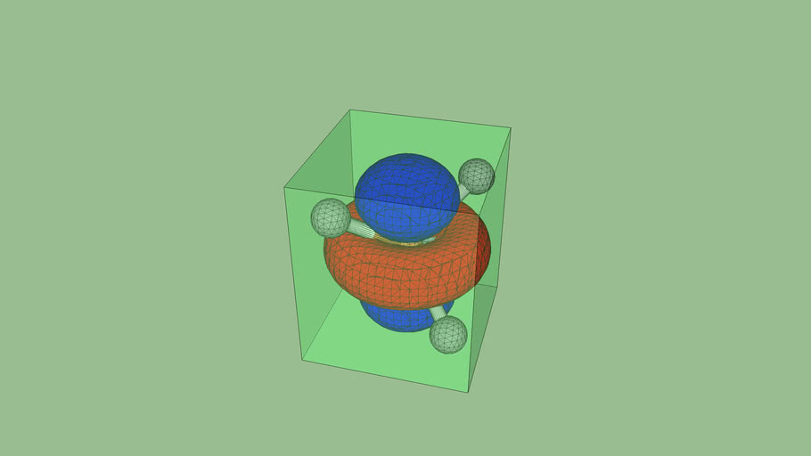 d z2 orbitals superimposed on a tetrahedral model