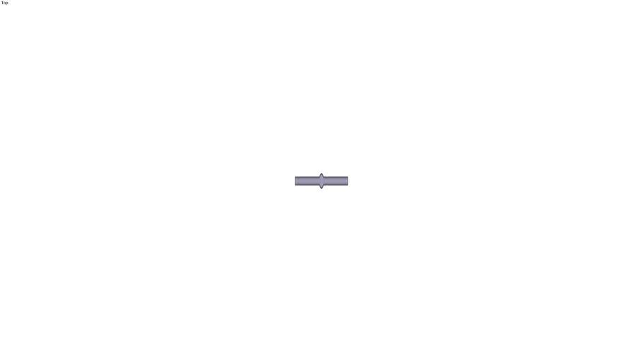 3120 - DOUBLE MALE STEM CONNECTOR PLASTIC DIAM D 1/4 INC