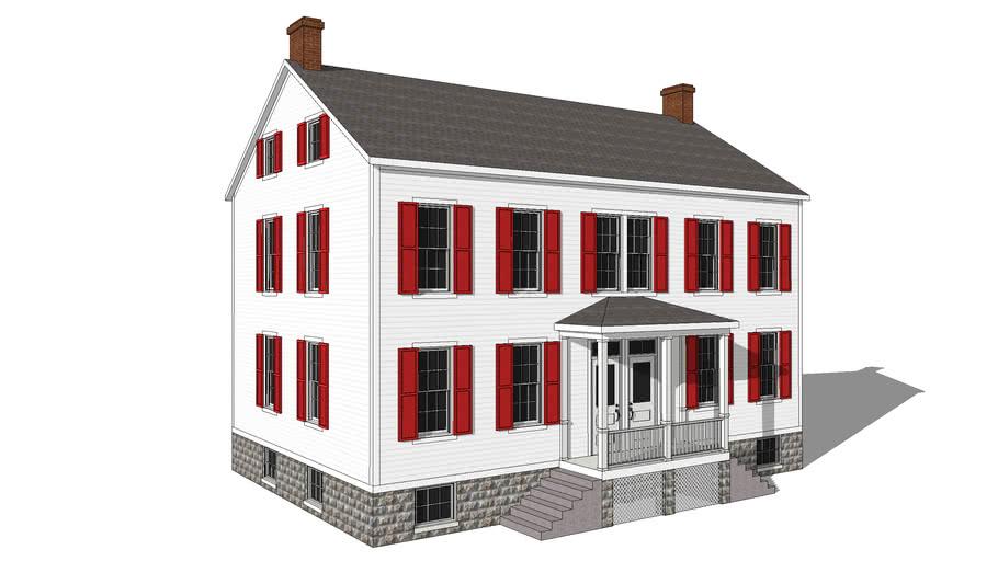 Greek Revival Duplex
