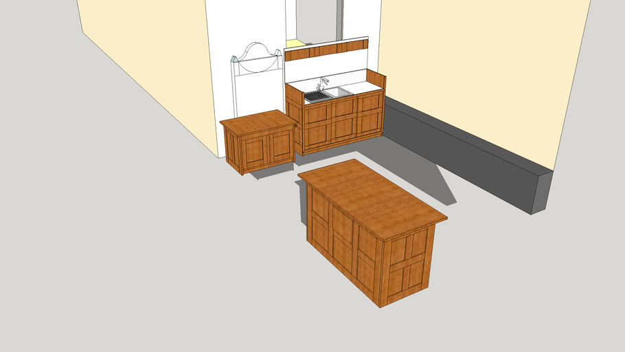 Proposed layout for kitchen area