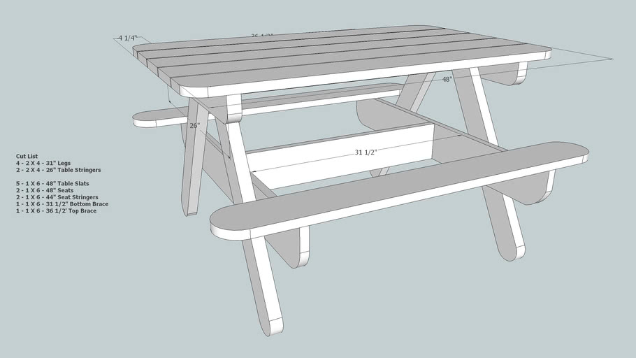 Child Size Picnic Table