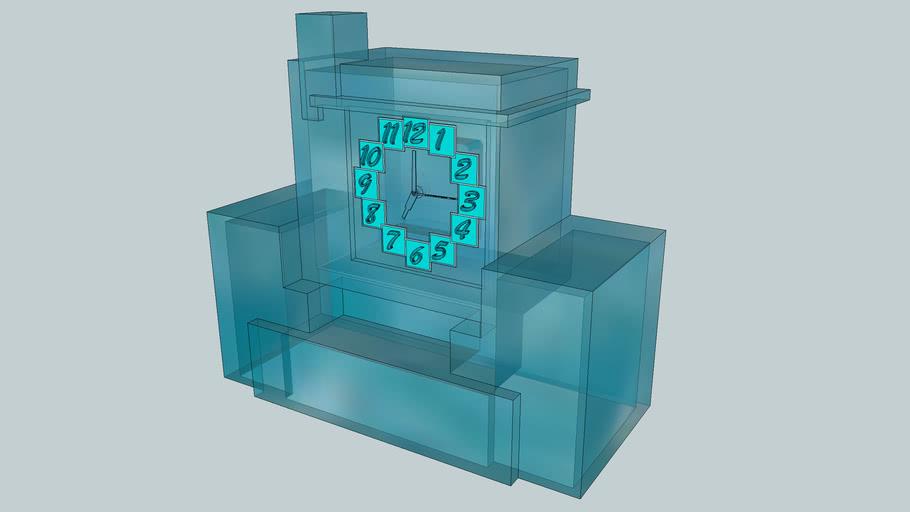 Haagse School Klok / Pendule - Transparant model