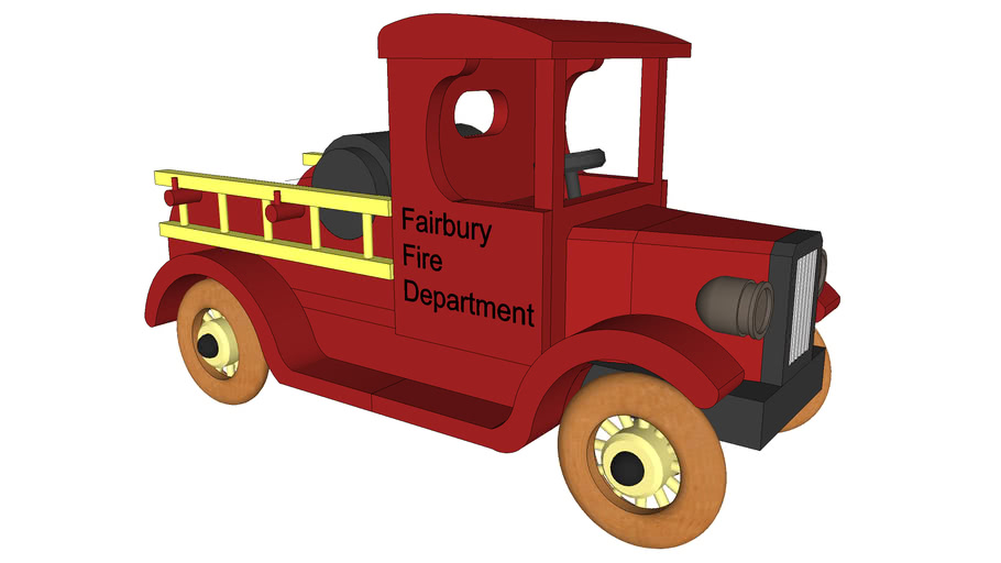 Large wooden Fire Truck