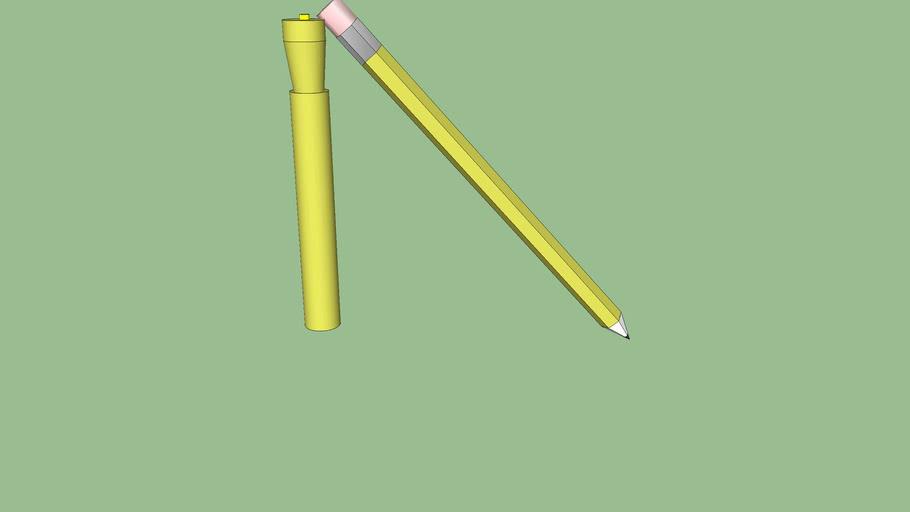 pencil and hightlighter