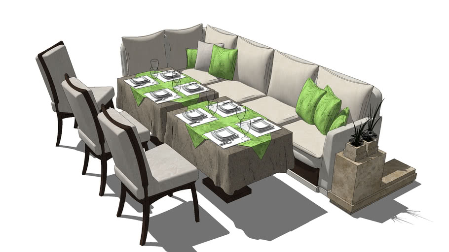 sofá e cadeiras