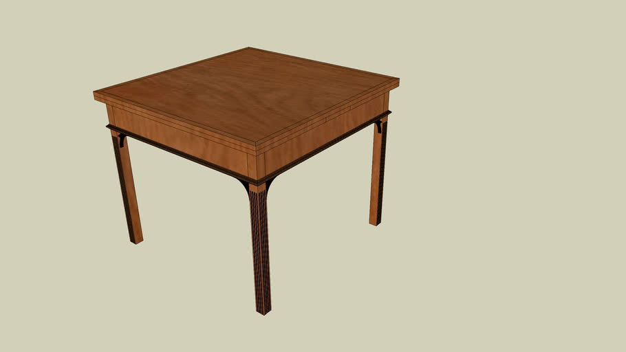 Draw Leaf Game Table from Popular Woodworking October 2006 Issue