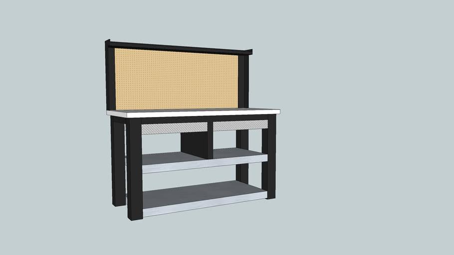 Husky 54 in. Workbench with Storage