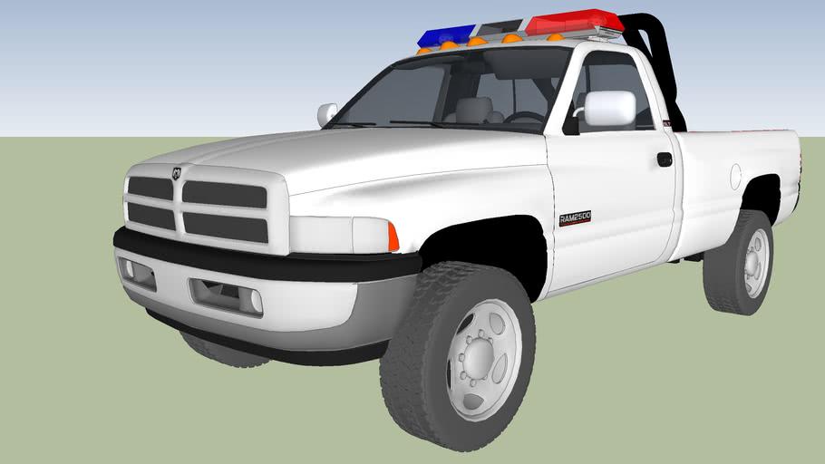 patrulla de policia municipal dodge ram