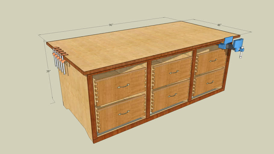 Workbench, large solid and good flatness
