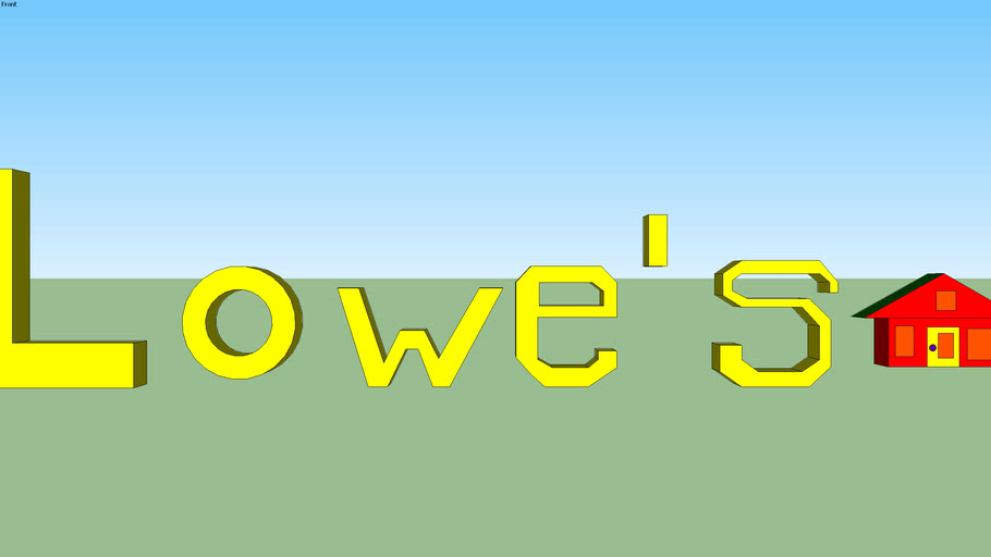 The New Lowe's Logo as Thomas Woolum's New Invention...