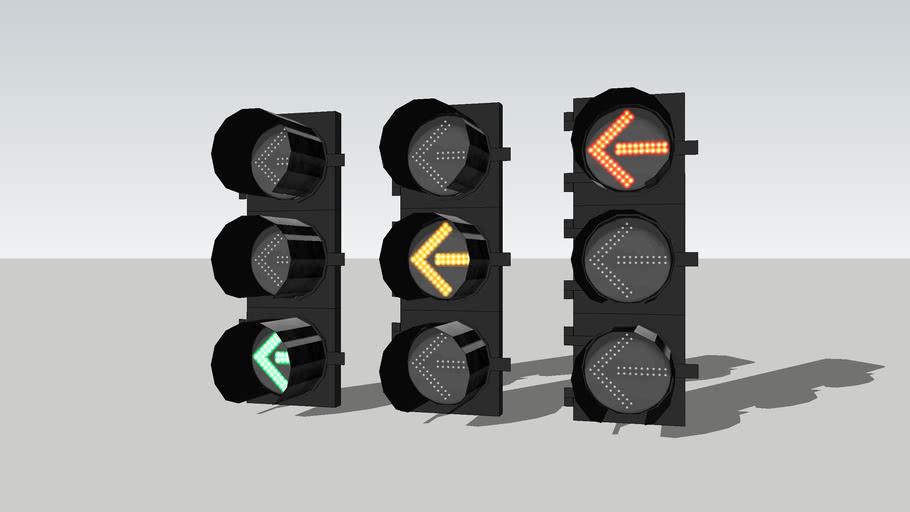 LED 8 inch Left turn signals 2 (Manila)