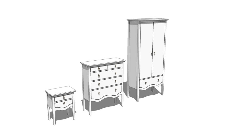 Queen Anne Bedroom Furniture | 3D Warehouse