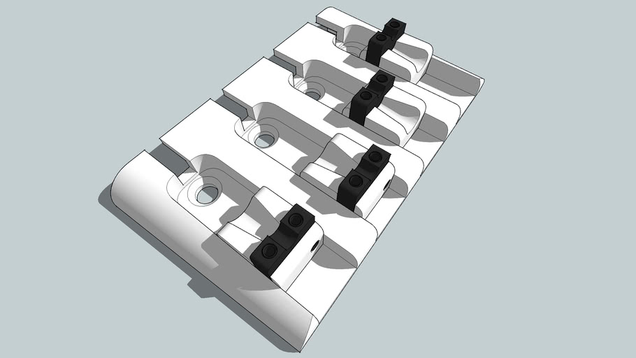 Heavy Duty Bass Bridge - 4 string