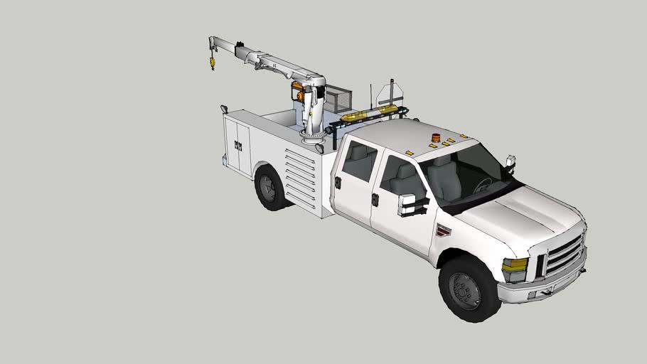 work truck with crane