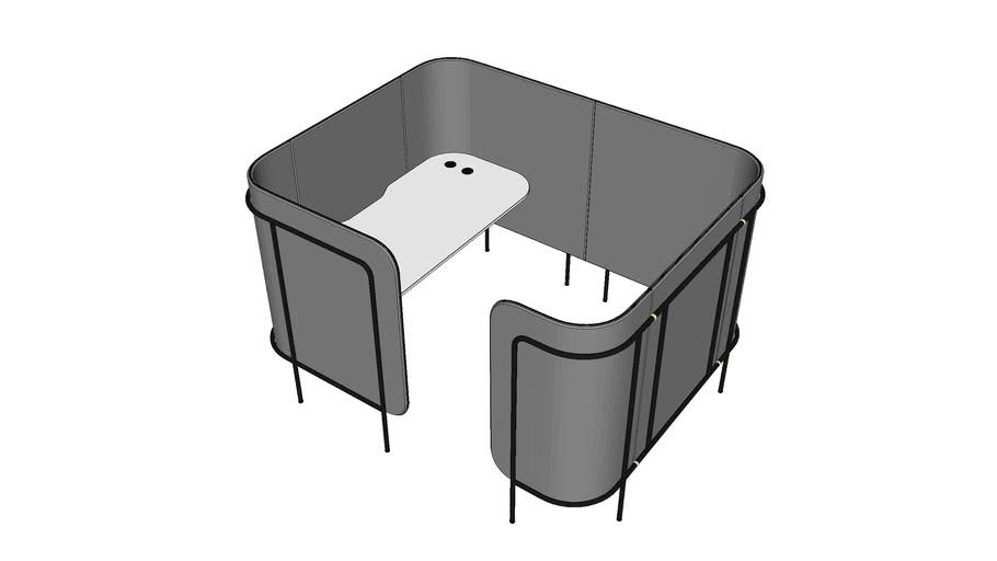Acoustic furniture set by Bejot - LP focus pod XL H1