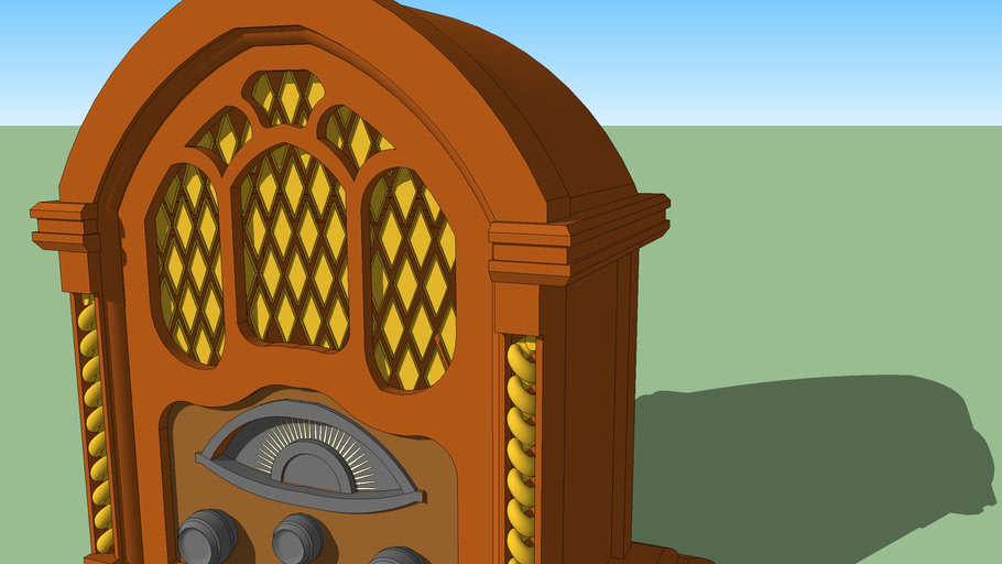 RADIO VINTAGE OLD WOODEN