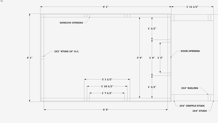 Playhouse floor plan