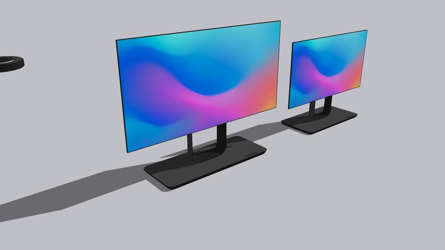 futuristic monitor