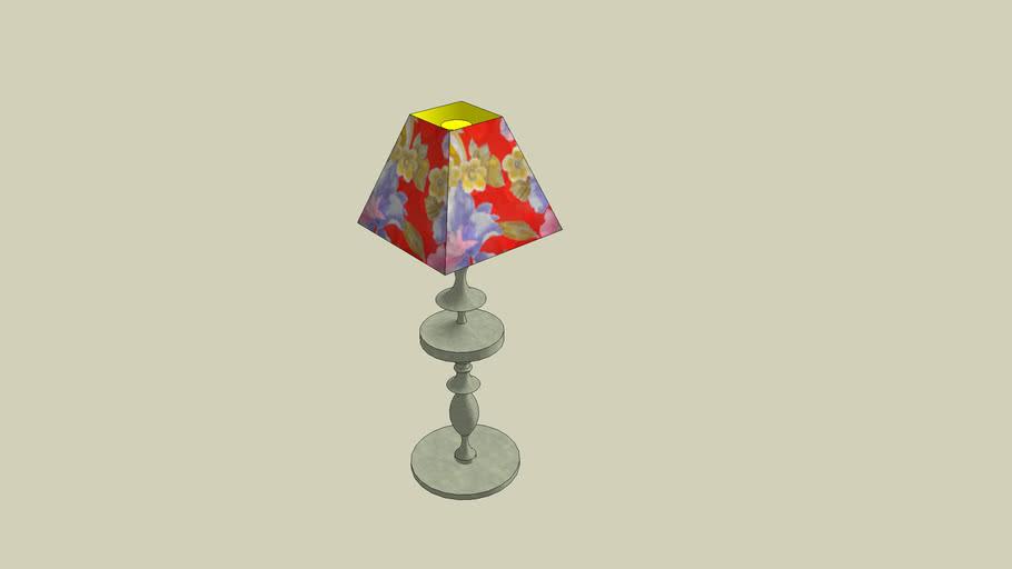 LAMPADAIRE FLEURI -