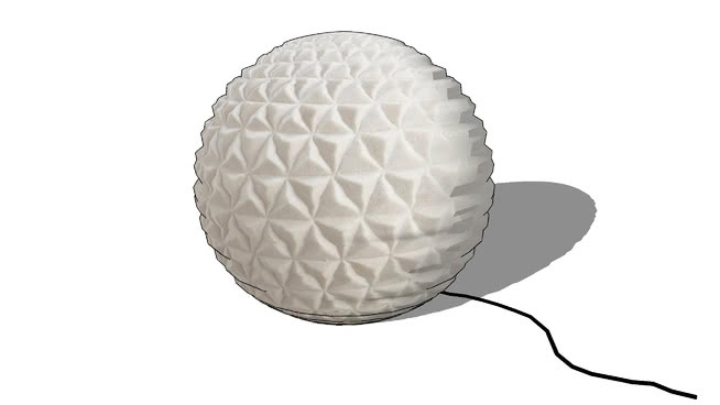 Night ball Lampe boule écru REF 165223 PRIX 95.50€