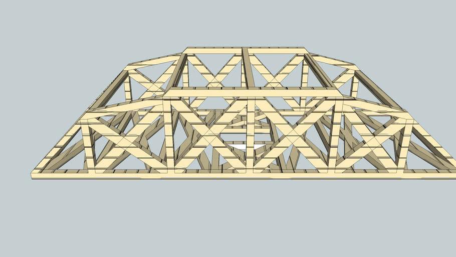 The Strongest Arch Truss Bridge Project Sketched Up 3d Model 3d Warehouse