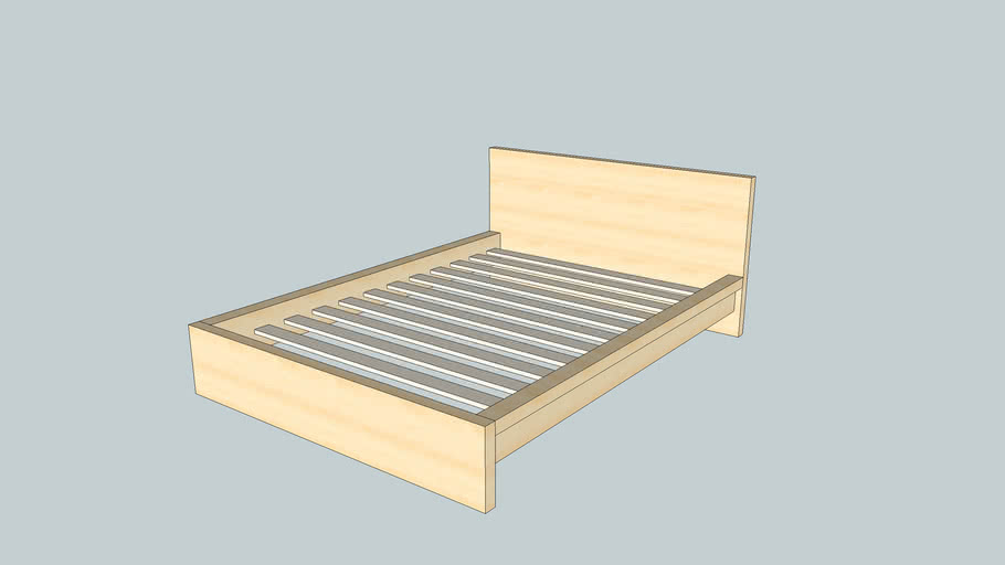 Ikea Malm Bed Frame Size Full 3d Warehouse