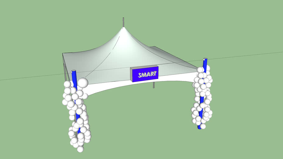 Tent with Decor